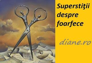 Superstiţii foarfece