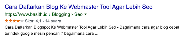 Ratting di pencarian google