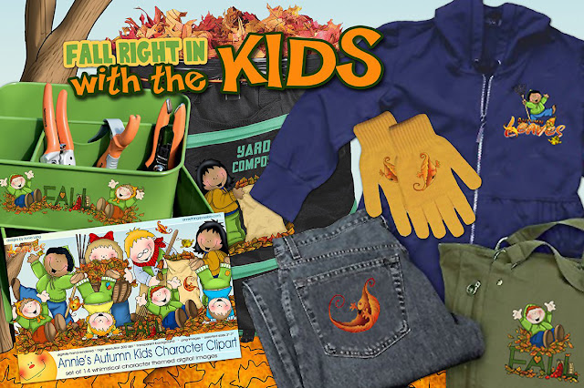 Annie Lang's Autumn Kids clipart collection is available at Creative Market because Annie Things Possible!