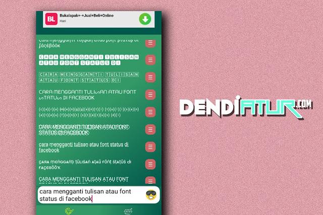 Cara mempercantik status facebook dengan aplikasi fancy text