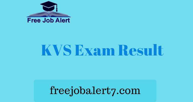 KVS Result 2019 - Kendriya Vidyalaya TGT PGT Principal