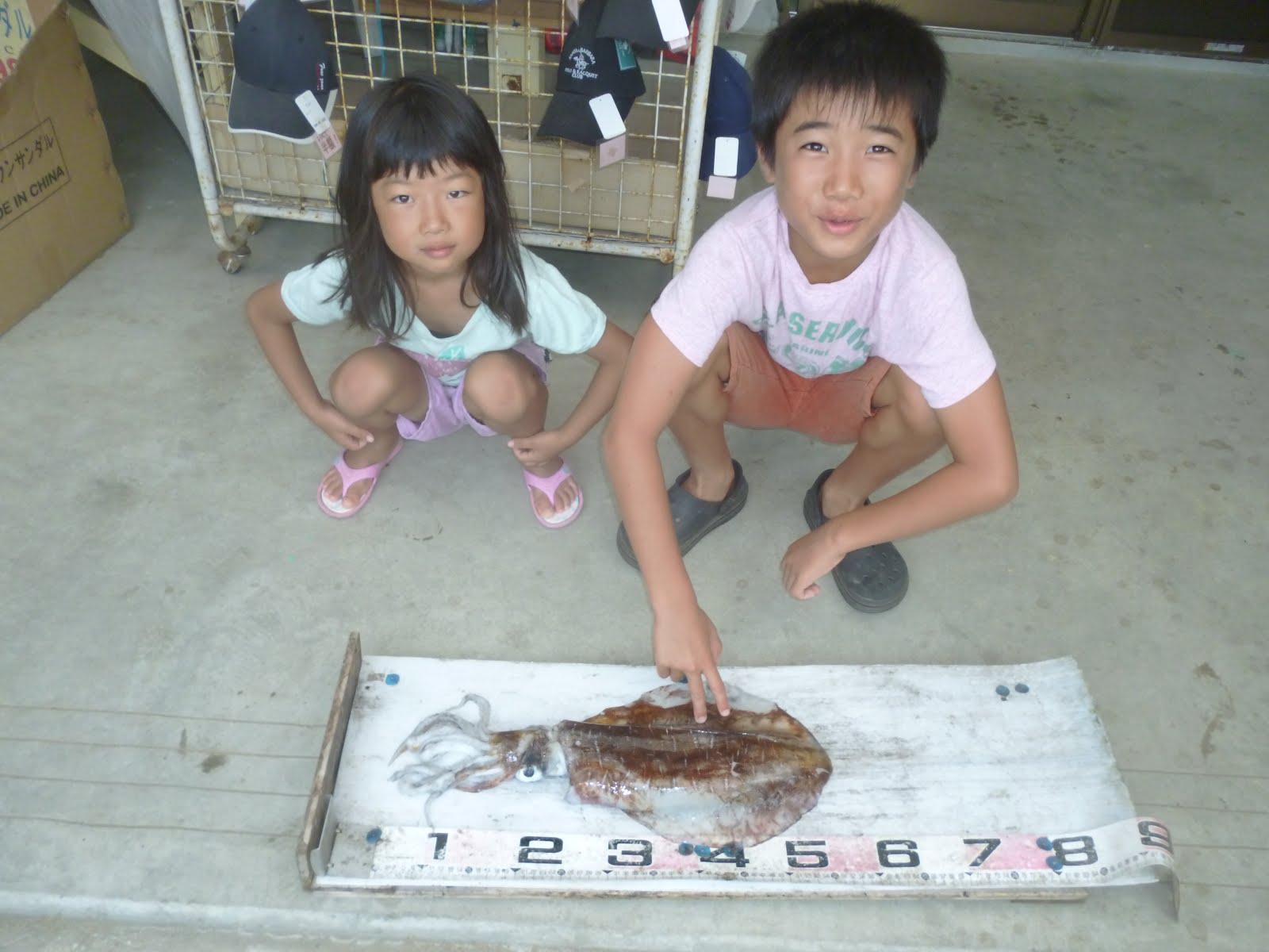 【種子島釣果情報】: 小学生が西之表新港でキロオーバーのアオリイカをゲ...  小学生が西之表新