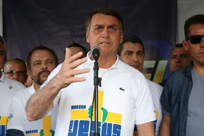 NA MARCHA PARA JESUS BOLSONARO,DISSE: Abro mão da reeleição se Brasil passar por reforma política e disse mais que o estado é laico, mas o presidente é cristão.