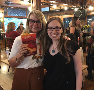 Touchstone Editing editor Jennifer (Levine) London with author of romantic thriller Zapata Harper McDavid