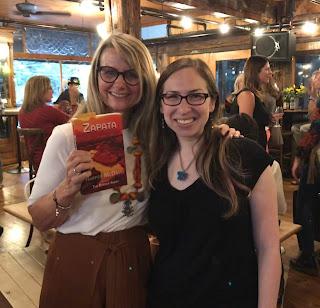 Touchstone Editing editor Jennifer (Levine) London with author of romantic thriller Zapata Harper McDavid