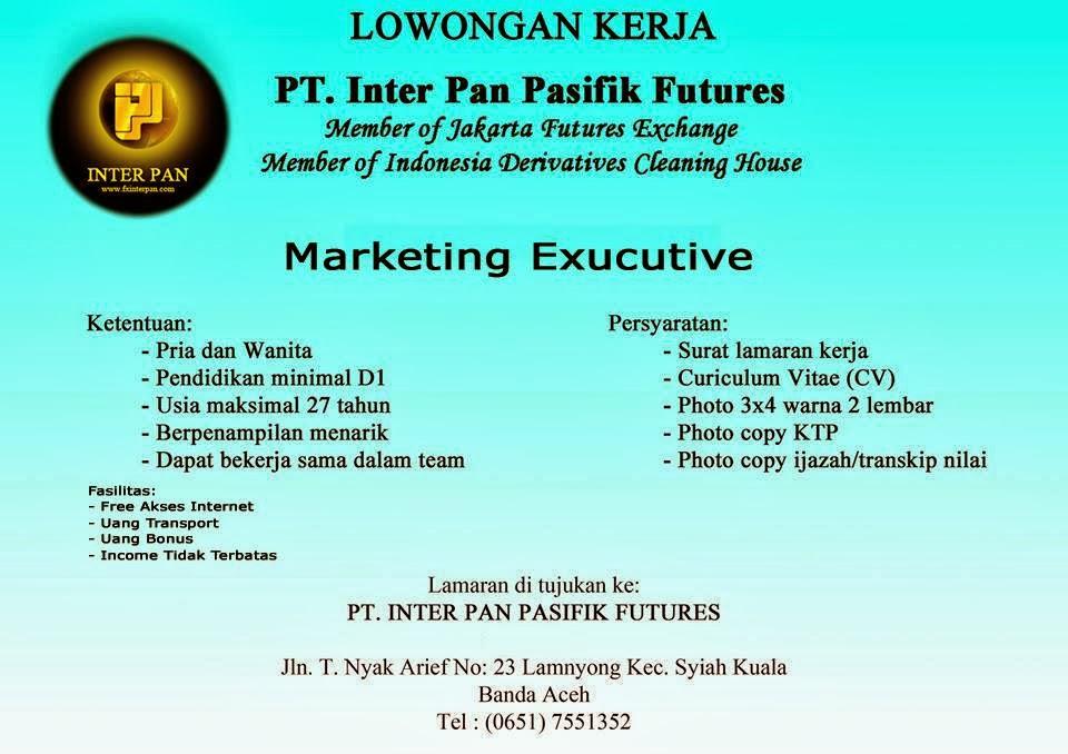 Lowongan Kerja PT.INTER PAN PASIFIK FUTURES