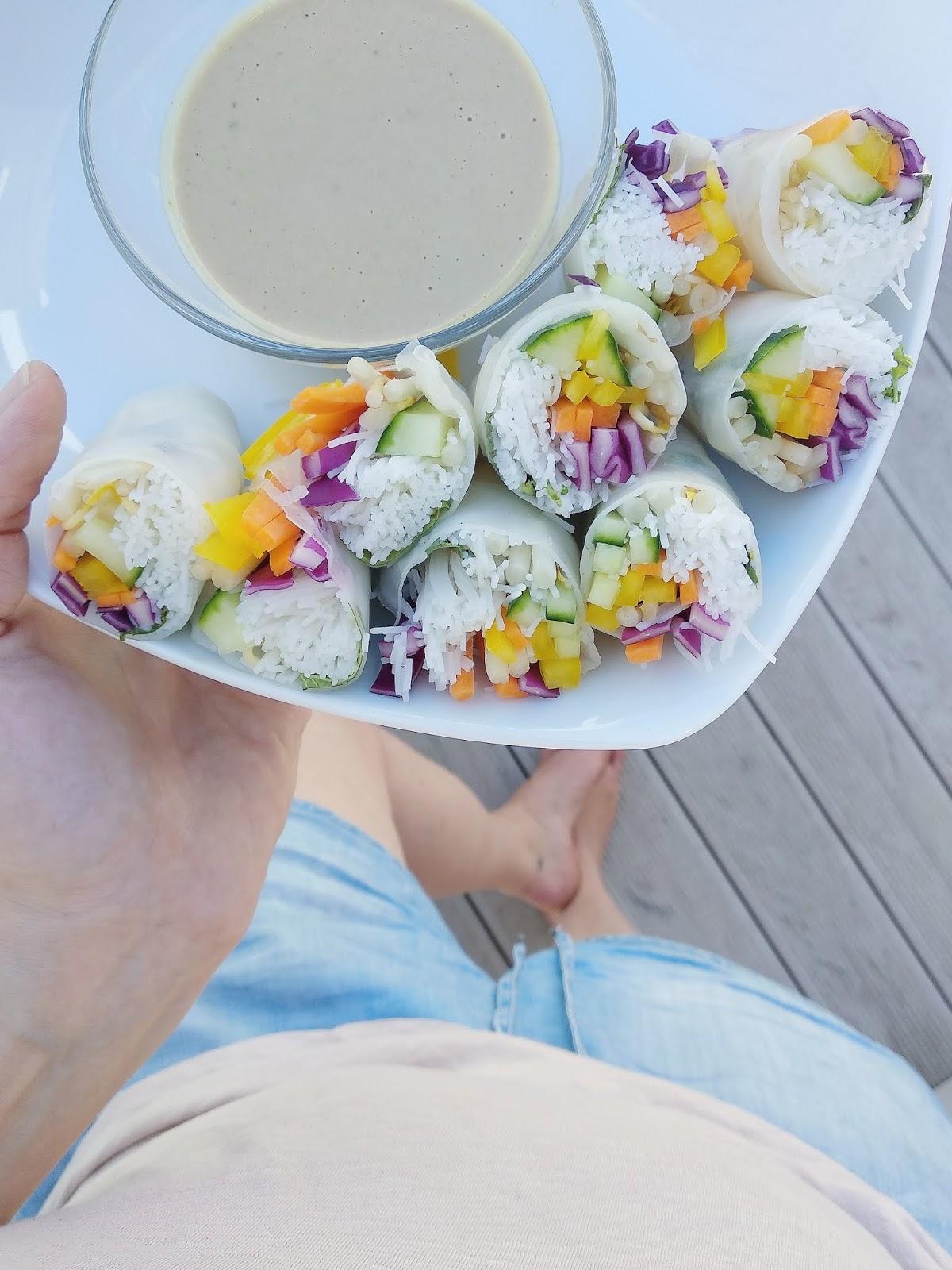 #inunter20 Minuten zubereitet | Einfache Sommerrollen mit Sesam-Limetten-Dip | vegan, vegetarisch, schnelle Rezepte | judetta.de
