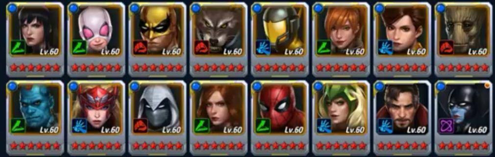 Best hero tier 2 marvel future fight
