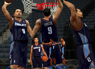 NBA 2K13 Charlotte Bobcats Away Jersey Patch