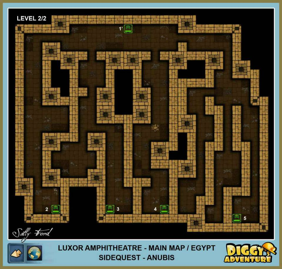 Diggy's Adventure Walkthrough: Egypt Main / Luxor Amphitheatre Level 2