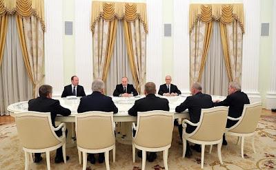 Russian President with former heads of Buryatia, Karelia, Perm Territory, Novgorod, Ryazan regions.
