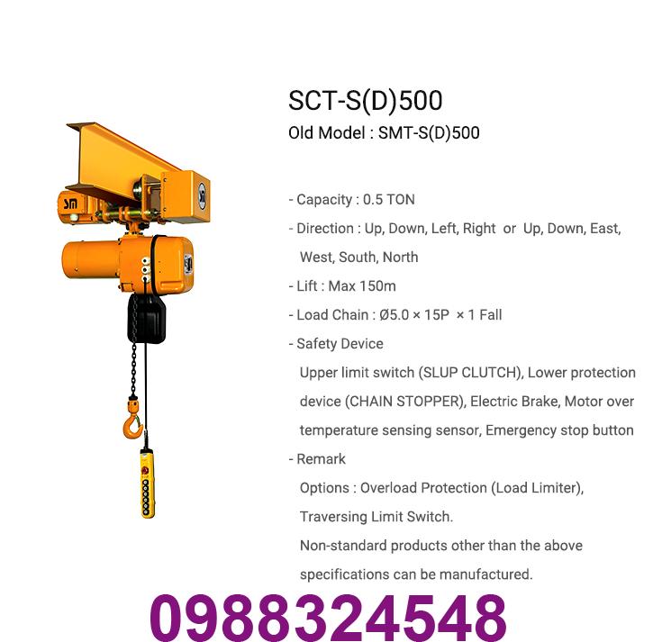 palang điện xích Samsung SCT-S0500 500kg