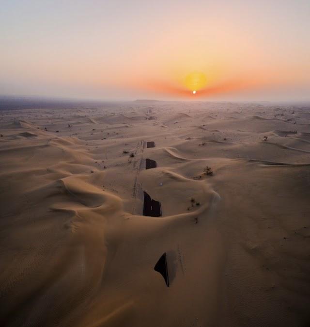 Desert Road Submerged in Abu Dhabi