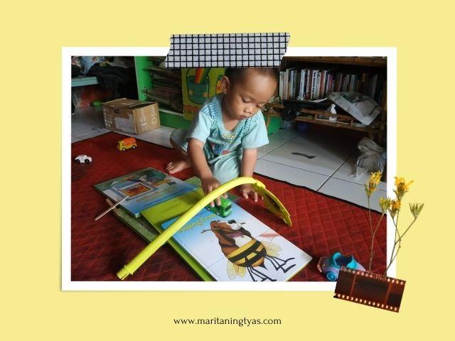mendekatkan buku pada keseharian anak