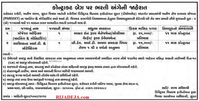 Project Officer & Project Assistant Recruitment 2019 by RIJADEJA.com
