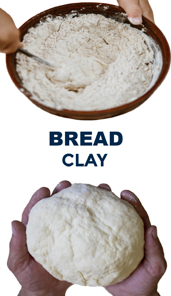 Make bread clay for kids using this easy recipe. #breadclay #breadclayrecipe #breaddough #playdoughrecipe #clayrecipeforkids #growingajeweledrose