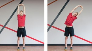 QL stretching standing