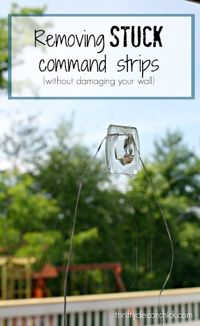 how to remove stuck command strips