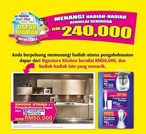 Menang Hadiah Peraduan Nestlé Dapur Idaman untuk Ibu!