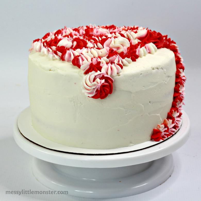 frosting a unicorn cake