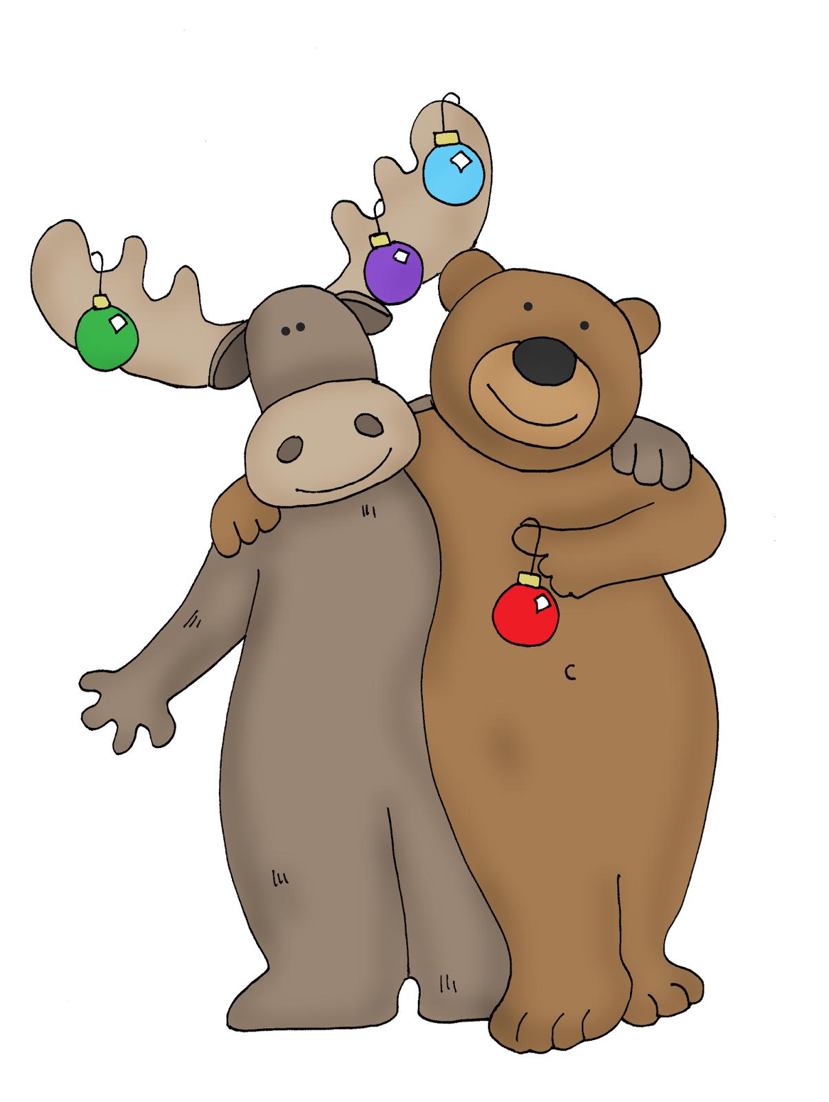 christmas bear and moose