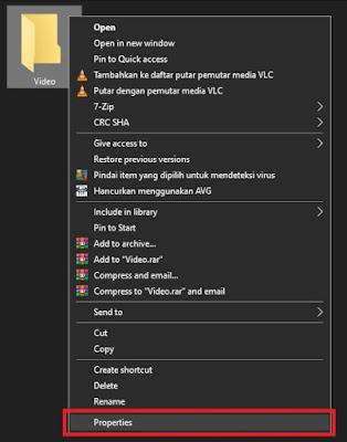 Pertama, buat folder dengan cara buka file manager atau windows ekspoler terlebih dahulu. Kemudian klik kanan lalu pilih new folder. Atau jika tidak perlu, cukup edit folder yang sudah dibuat dengan cara klik kanan kemudian kli Properties.