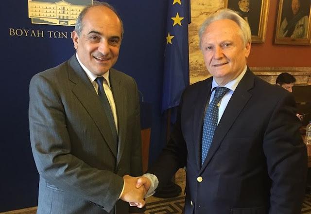 Συνάντηση Ανδριανού με τον Πρόεδρο της Κυπριακής βουλής Δημήτρη Συλλούρη