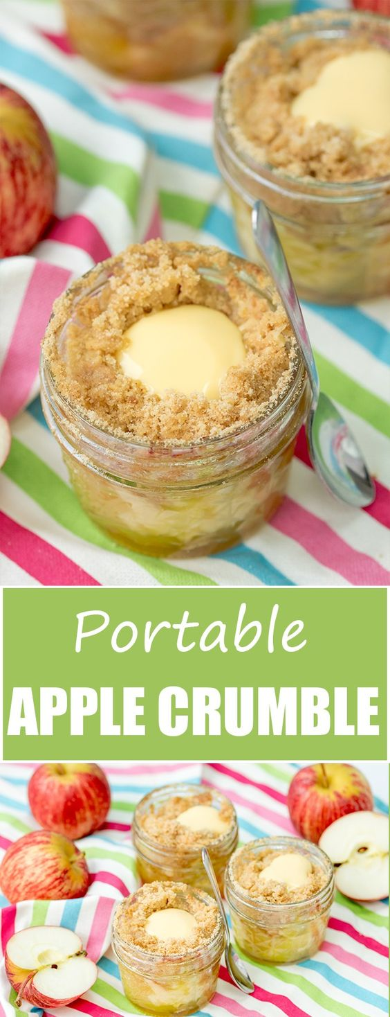 Portable Apple Crumble Jars