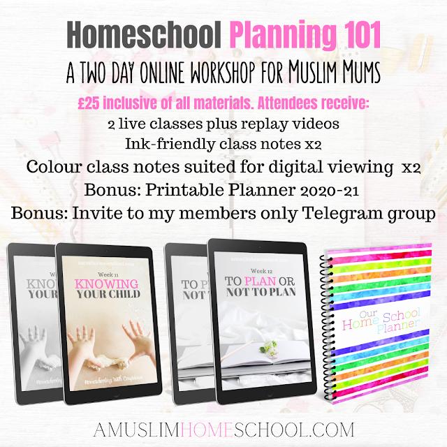 Homeschool Planning workshop materials
