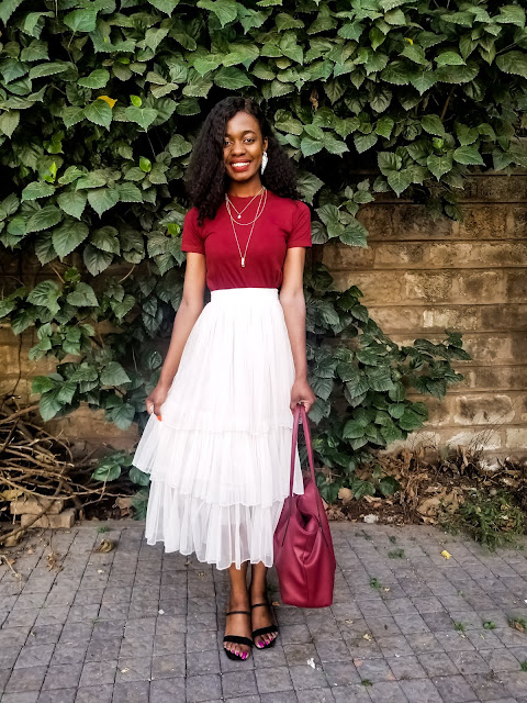How To Wear A Tiered Tulle Skirt Outfit