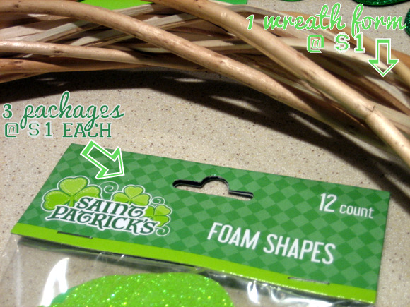 Dollar Store Wreath Materials: A Simple DIY Wreath for St. Patrick's Day | DIY Playbook
