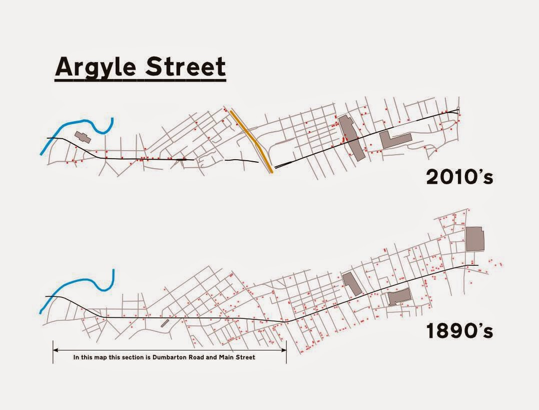 Every bar on Argyle Street 1890/2014