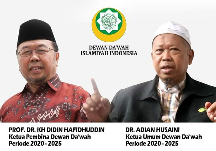 Hasil Rapat Pleno, Pasangan Prof. DR Didin Hafidhuddin dan DR. Adian Husaini Pimpin DDII Periode 2020-2025