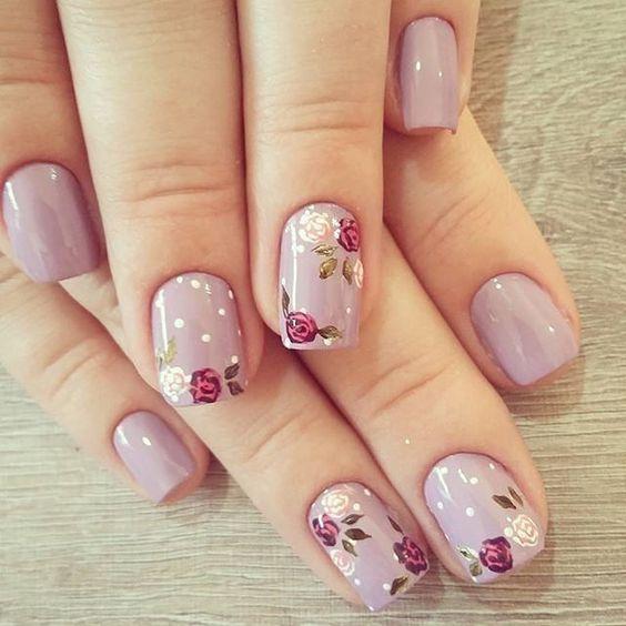 Floral nail design art