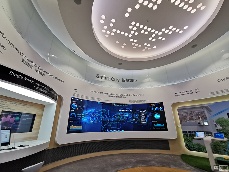 File photo: Huawei's exhibit of a Smart City in China