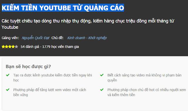 khoa hoc kiem tien youtube tu quang cao online