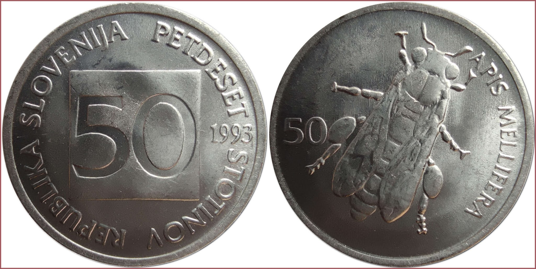 50 stotin, 1993: Republic of Slovenia