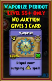 Vaporize - Wizard101 Card-Giving Jewel Guide