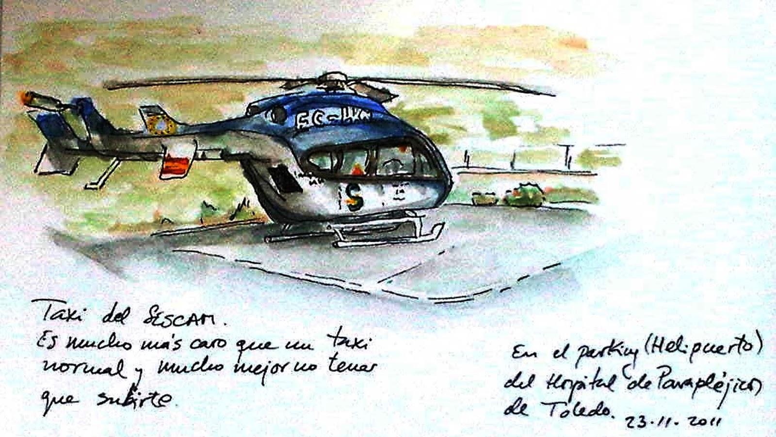 HELICOPTERO SANITARIO MEDEVAC del sescam Castilla La Mancha España  PREPARACIÓN DEL PACIENTE PARA EVACUACIONES AÉREAS. Transporte Aeromedico