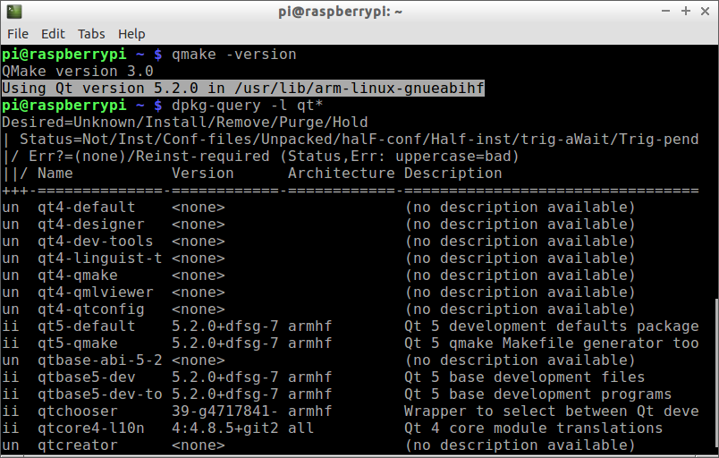 hello raspberry pi install qt5 on raspberry pi raspbian and hello world
