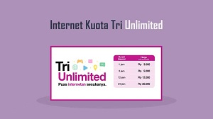 Harga Paket Kuota Unlimited 3