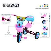 Sepeda Roda Tiga Anak PMB Safari BMX-719 Platinum Baby Tricycle
