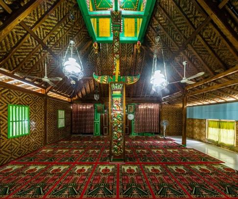 masjid Saka Tunggal Baitussalam banyumas bagian dalam