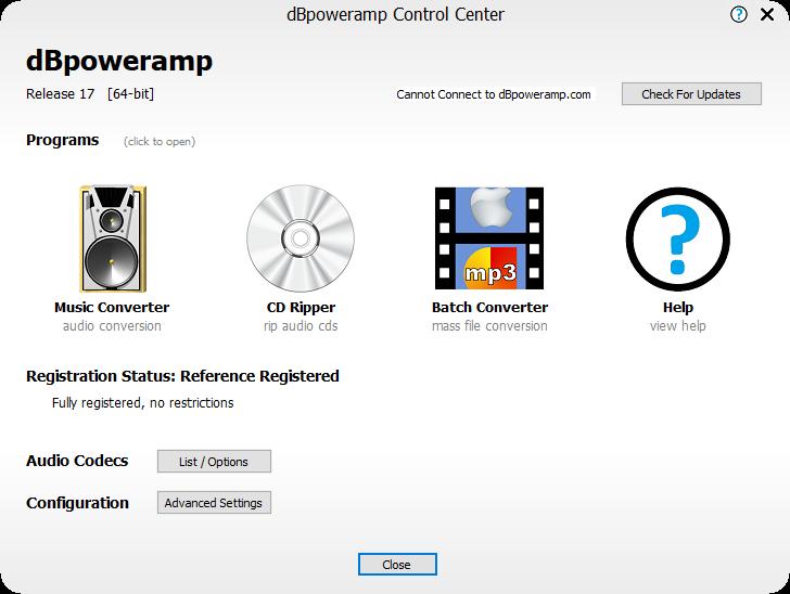تحميل برنامج dBpoweramp Music Converter R17.1 Reference للتحويل بين تنسيقات الصوت والأقراص المضغوطة