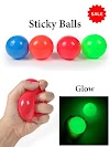 Sticky Balls -Stick to Roof and Stress Reliever [Glow in dark]