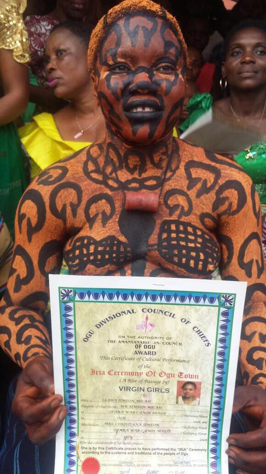 Checkout The Virgin Girls Certificate Given To Real Virgins In Ogu
