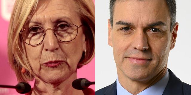 Rosa Díez y Pedro Sánchez