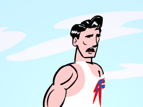 image drawing of cartoon man