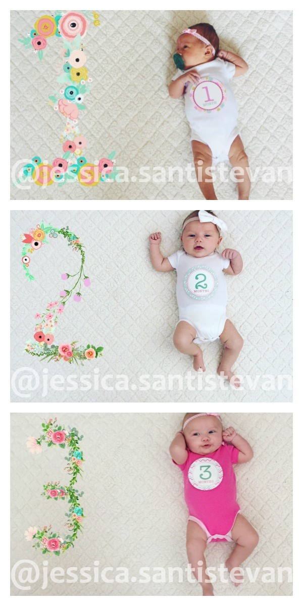 Baby monthly photo app inspiration.