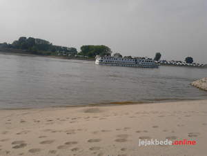 Once Upon A Time at the beach of Rhine River Bank in Netherland